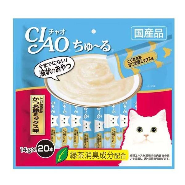 Bánh thưởng cho mèo CIAO CHURU Thịt Gà và Cá Ngừ (20 thanh) - SC 193
