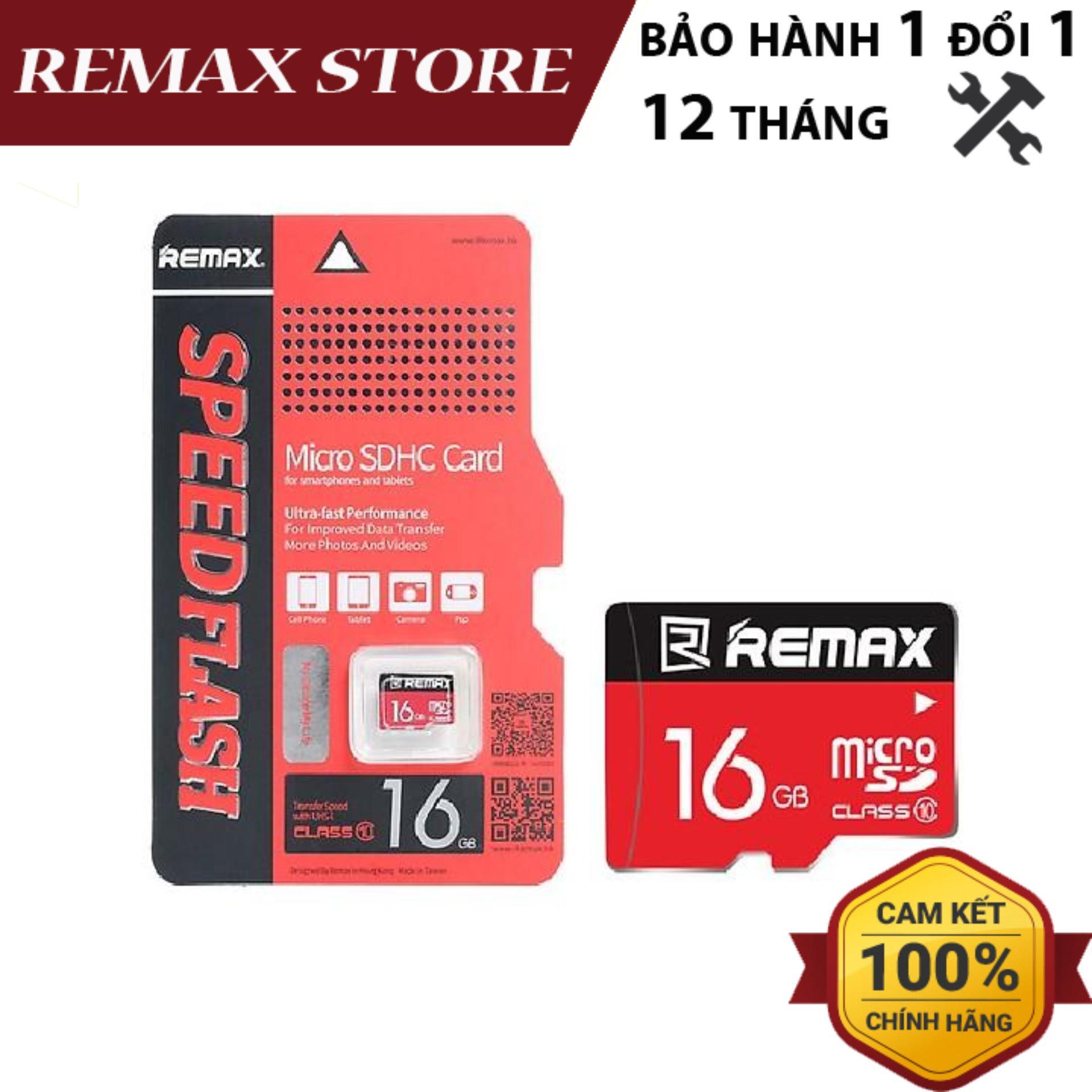 Thẻ nhớ MicroSD Remax 16Gb Class 10