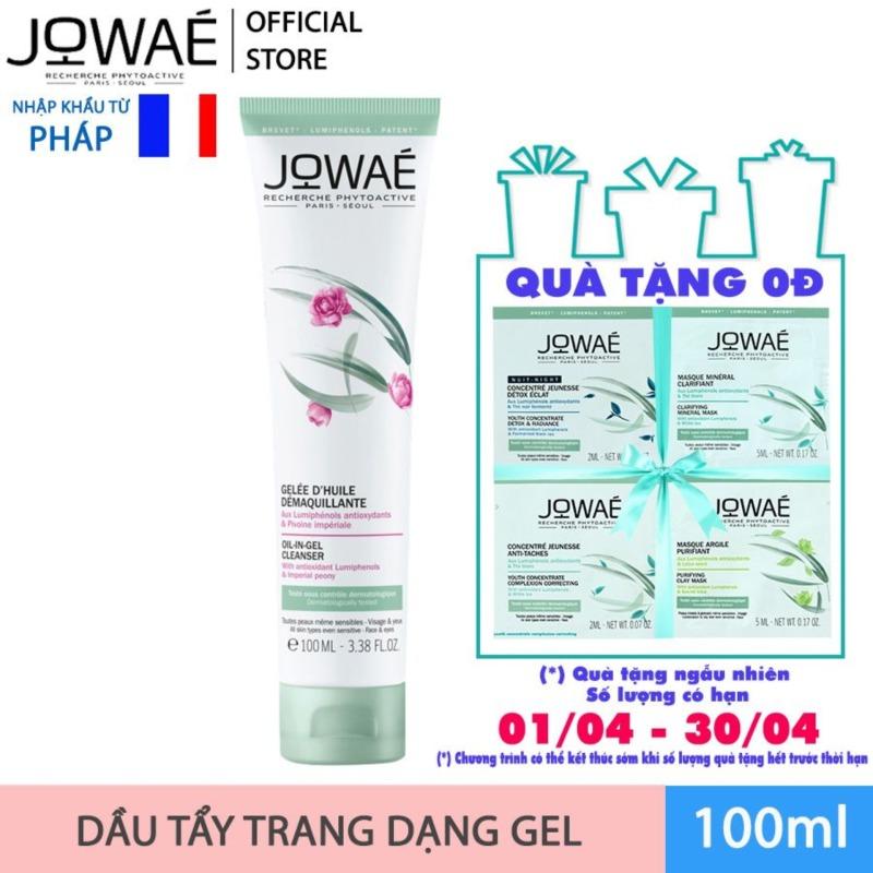 Dầu tẩy trang dạng Gel JOWAE thành phần thiên nhiên sản phẩm cao cấp nhập khẩu chính hãng từ Pháp Oil In Gel Cleanser 100ml nhập khẩu