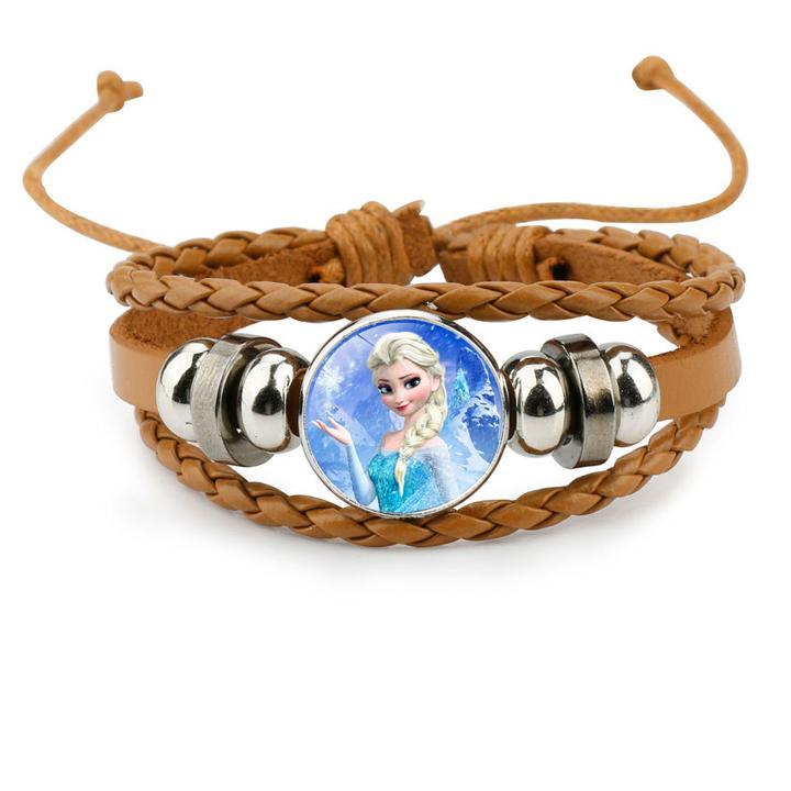 Giá bán Vòng tay Elsa giả đồng hồ cho bé bằng da bện phong cách bụi BBShine – J032