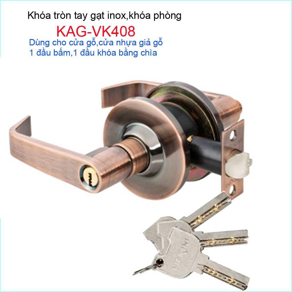 Khóa cửa phòng tay gạt, khóa cửa Vickini KAG-VK408