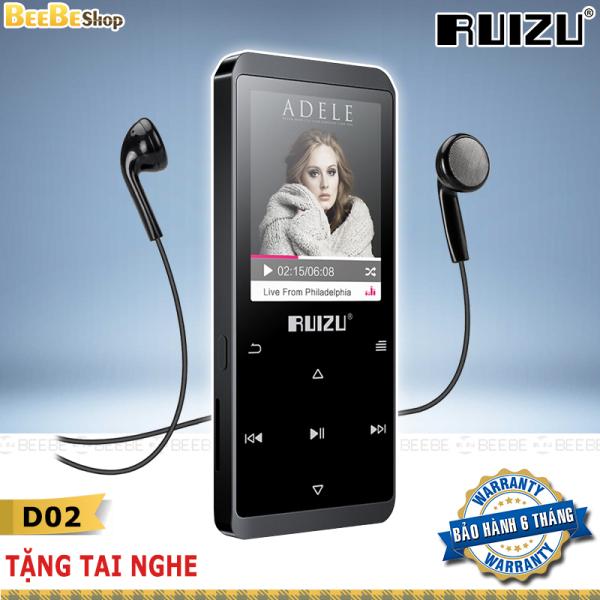 Ruizu D02 - Máy Nghe Nhạc Lossless, Thiết Kế Kim Loại Bền Bỉ, Bộ Nhớ Trong 4Gb (Tặng Tai Nghe)
