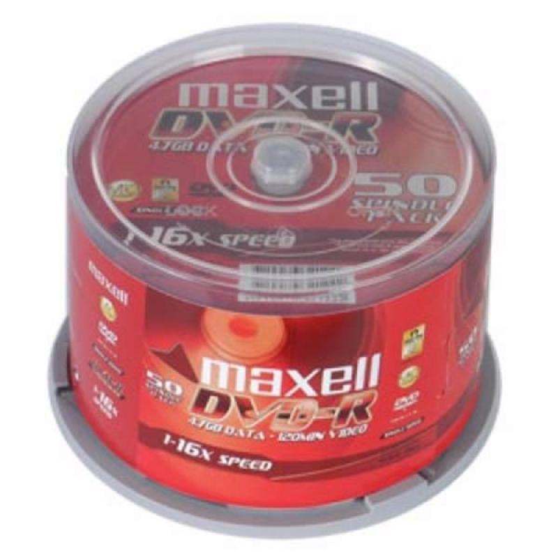 Bảng giá Đĩa dvd trắng ,Đĩa trắng DVD Maxcell 1 hộp 50 cái 4.7G Phong Vũ