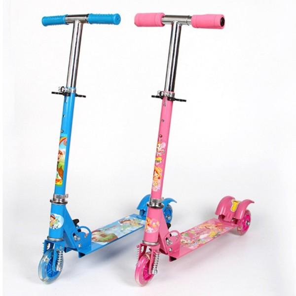 Mua xe trượt scooter 3 bánh PHÁT SÁNG cho bé, xe scooter trẻ em, xe trượt 3 bánh cho bé