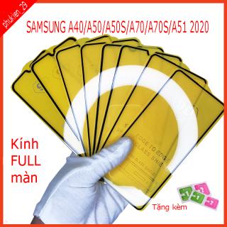 Kính cường Lực SAMSUNG A40 A50 A50S A51 A70 A70S Kính cường lực FULL màn hình Hình ảnh thực shop tự chụp (tặng kèm bộ giấy lau kính ) phukien29 thumbnail