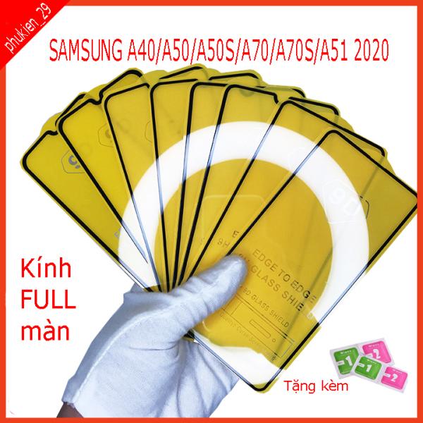[Nhập ELMAY21 giảm 10% tối đa 200k đơn từ 99k]Kính cường Lực SAMSUNG A40 A50 A50S A51 A70 A70S Kính cường lực FULL màn hình  Hình ảnh thực shop tự chụp  (tặng kèm bộ giấy lau kính ) phukien29