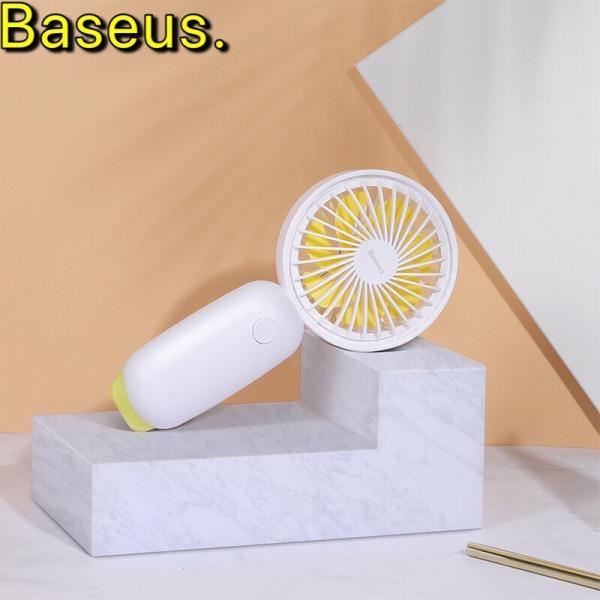 Quạt mini cầm tay 3 tốc độ có đèn led đom đóm chính hãng baseus