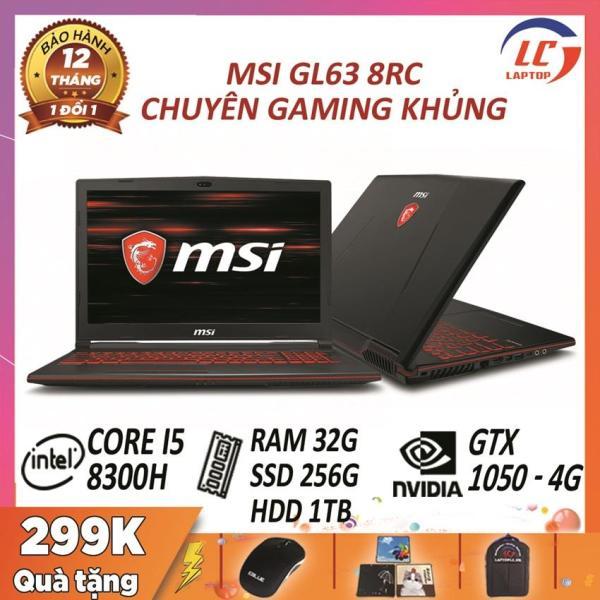 Bảng giá Laptop game MSI GL63 8RC core i5-8300H - card rời Nvidia GTX 1050- 4G, màn 15.6 FullHD, laptop game Phong Vũ