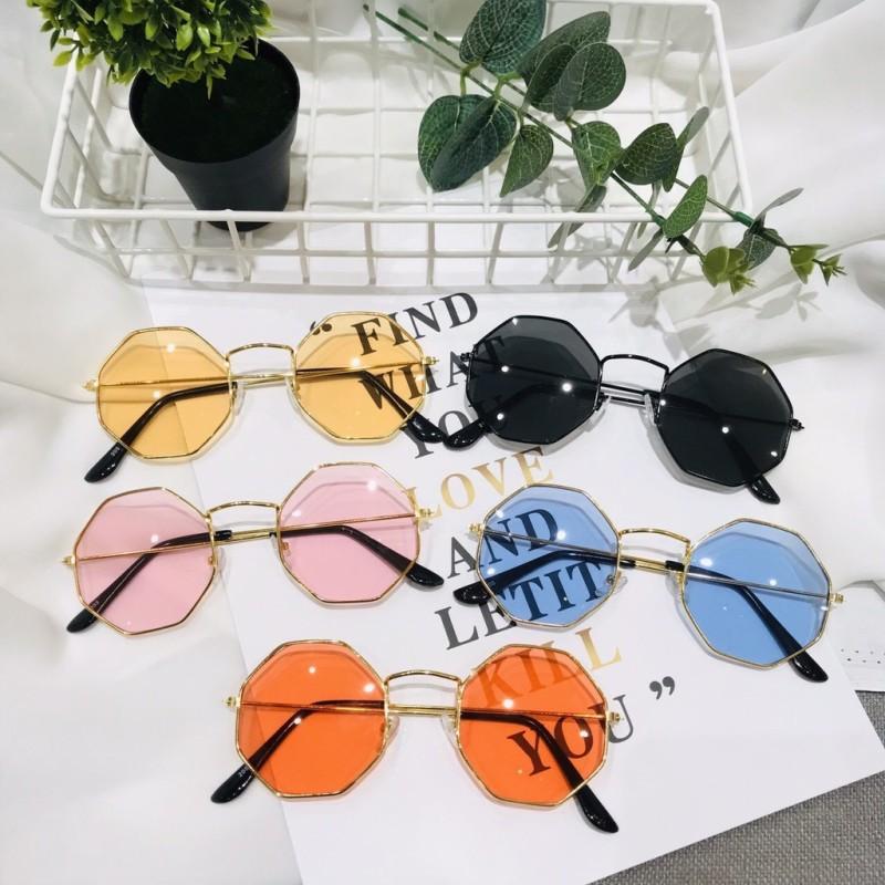 Giá bán Kính mát nam nữ mắt tròn đa giác thời trang nhiều màu sắc dễ lựa chọn - 205