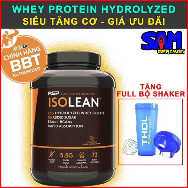[Hàng Chính Hãng] RSP ISOLEAN - Whey Protein Hydrolyzed Isolate siêu tinh khiết - Hấp thụ cực nhanh - Tăng cơ cực đỉnh - Tem nhãn chính hãng BBT, THOL