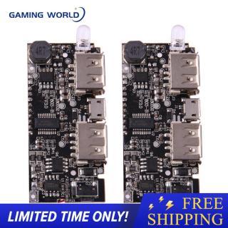 [Big Sale] Sạc Dự Phòng Kép USB 5V 1A 2.1A, Sạc Pin 18650 Bảng Mô-đun PCB thumbnail