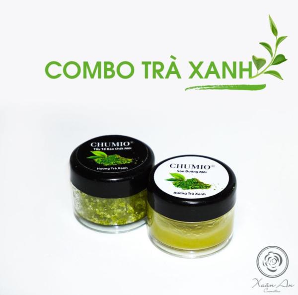 Combo Tẩy Tế Bào Chết Môi và Son Dưỡng Môi Chumio 100% thiên nhiên - Hương trà xanh