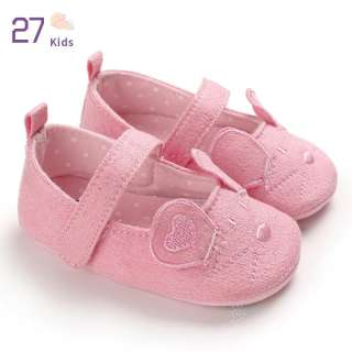 27 Giày Thoáng Khí Hoạt Hình Màu Hồng Cho Bé Gái Trẻ Em, Giày Tập Đi Đế Mềm Chống Trượt