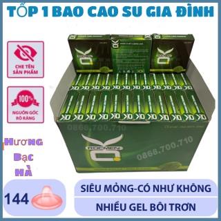 Hộp lớn 144 chiếc Bao cao su gia đình Hương bạc hà the mát - tiết kiệm chi phí thumbnail