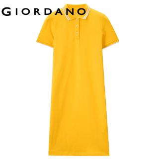 Váy POLO Nữ GIORDANO Women Dress Tay ngắn Vải Pique co giãn Trang trí viền gân với màu tương phản 5 màu thuận Thời trang Thoáng mát Hút mồ hôi Mùa hè 13461038 thumbnail