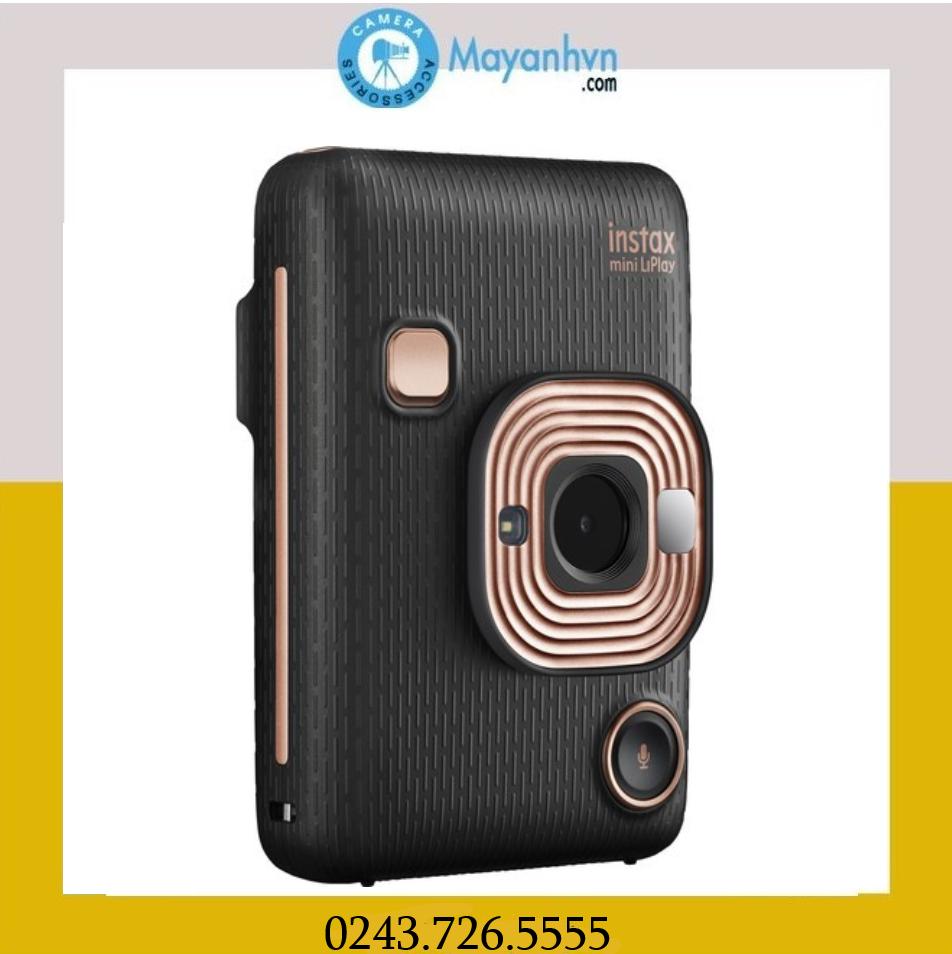 Máy Chụp ảnh Lấy Liền Instax Mini LiPlay- Màu Elegant Black (Chính Hãng Mới 100%) Tặng Kèm 1 Pack Film/10 Kiểu Có Giá Rất Tốt