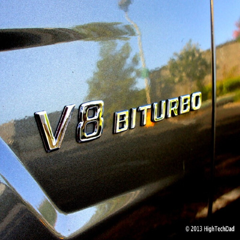 Decal tem chữ V8-Biturbo dán hông xe Mercedes (keo 3M chắc chắn)