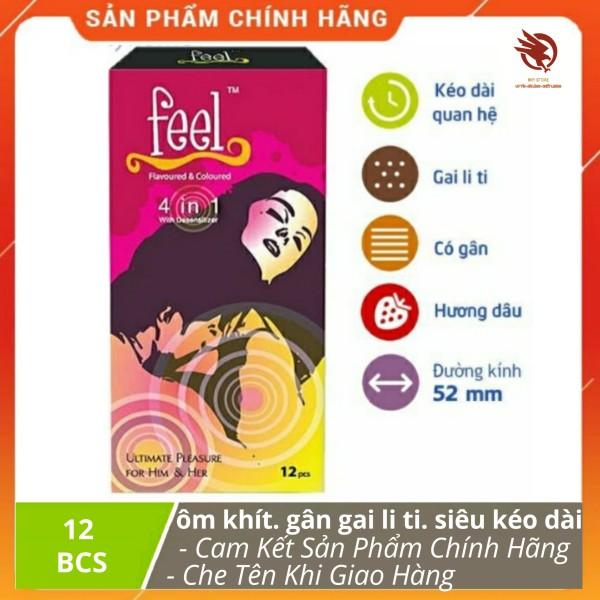 [HCM]Bao Cao Su FEE L 4 IN 1  gân Gai li ti ôm khít Kéo Dài Thời Gian Quan Hệ - hộp 12 cái