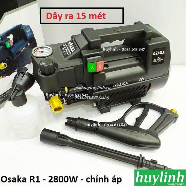 Máy xịt rửa xe chỉnh áp Osaka R1 - 2800W [Zukui S7 - Boseton N1] - Dây 15 mét - Tặng béc rửa máy lạnh, điều hòa