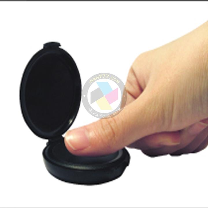 Mua Hộp dấu lăn tay hiệu Shiny SM2-2A cao cấp của Đài Loan - Tròn 40mm