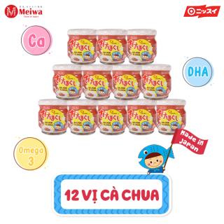 Thùng 12 lọ ruốc cá hồi Meiwa vị cà chua cho bé phù hợp với trẻ từ 8 tháng HSD T9.2021 chính hãng thumbnail