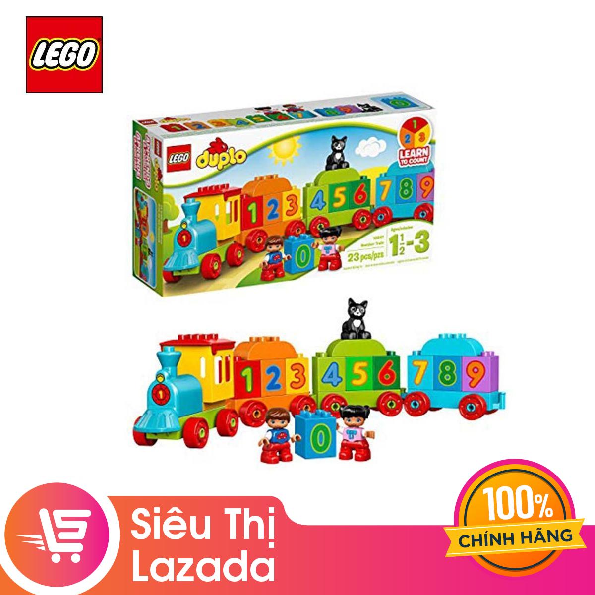 [Voucher Freeship 30k]Đồ Chơi Lắp Ráp Lego Tàu Lửa Học Số Mới Bất Ngờ Ưu Đãi Giá