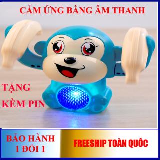 Đồ chơi khỉ nhảy múa, nhạc vui nhộn, cảm ứng bằng âm thanh, kích thích bé phát triển (tặng kèm pin) thumbnail