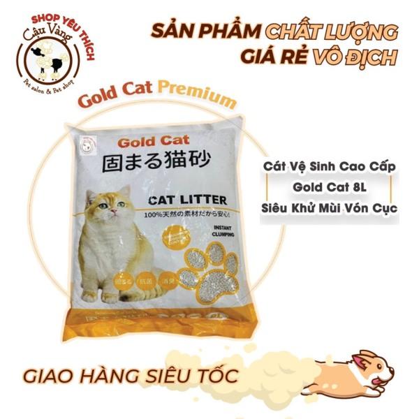 Cát vệ sinh cho mèo Gold Cat 8L siêu khử mùi vón cục | Cát Nhật Cao Cấp