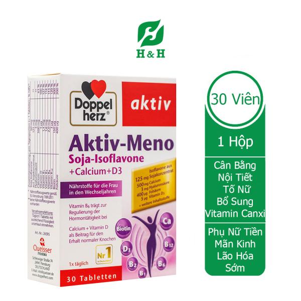 Viên uống Doppelherz Aktiv – Meno Thực phẩm chức năng hỗ trợ tăng cường nội tiết tố nữ -  hộp 30 viên