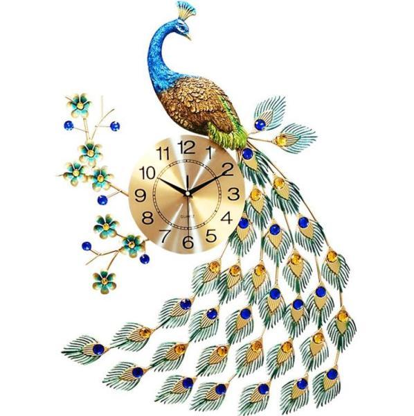 Đồng hồ trang trí chim công đậu cành mai WM88X (treo đứng). Kích thước sản phẩm: 70x 65x 24 cm bán chạy