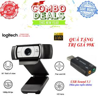 TẶNG USB Sound 3D âm thanh 7.1 cắm máy tính - Webcam Logitech C930E C930C - Hàng Nhập Khẩu - Webcam Logitech C930C-930E(960-000976), Video Call Full Hd, Lấy Nét Tự Động, Ống Kính Zeiss Zoom 4x, Dual Mic thumbnail