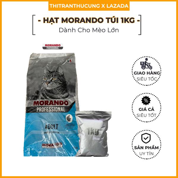 Thức Ăn Hạt Cho Mèo Hạt Morando Professional - Túi 1Kg Hạt Morando Siêu Tiết Kiệm  Miglior Gatto