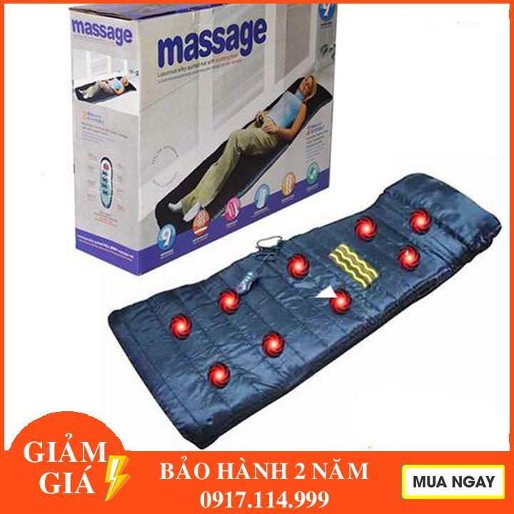 Nệm Massage Toàn Thân 9 động Cơ Reversibile - Đệm Ghế Matxa Toàn Thân 9 Bi Giá Rẻ Bất Ngờ