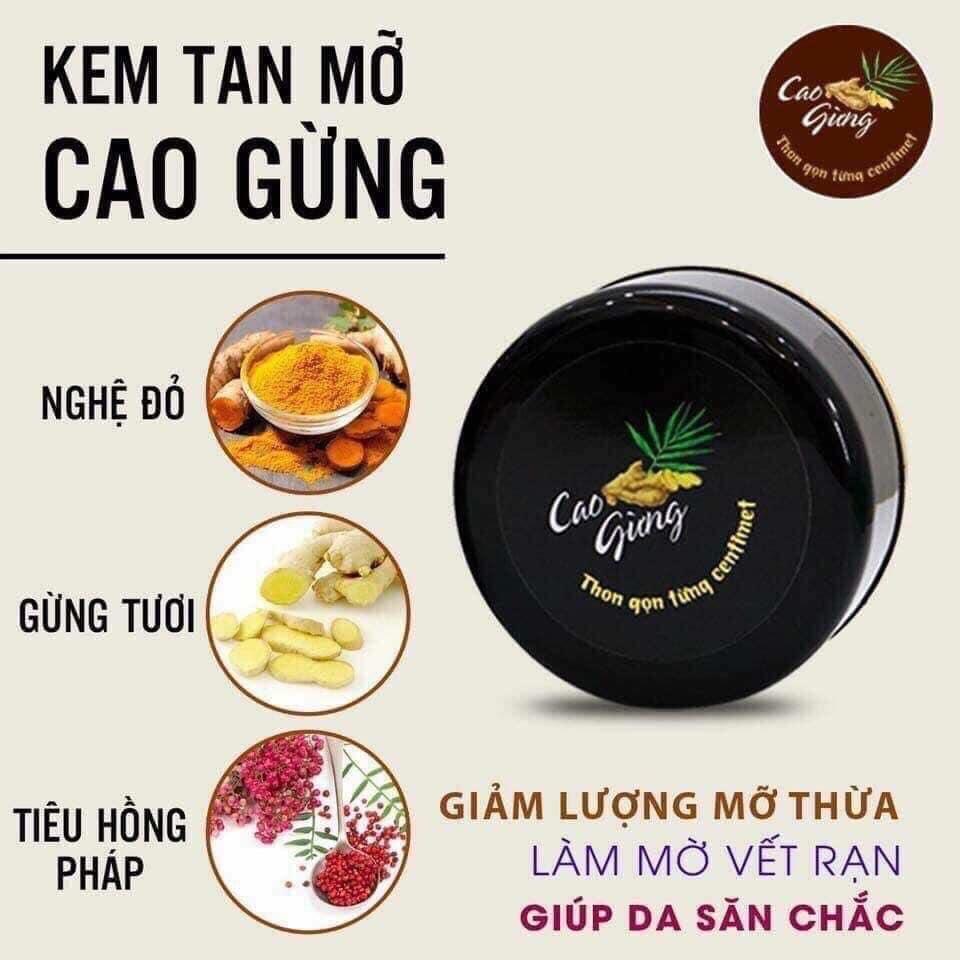 Cao Gừng Tan Mỡ Thiên Nhiên Việt - Có Tem Chống Hàng Giả
