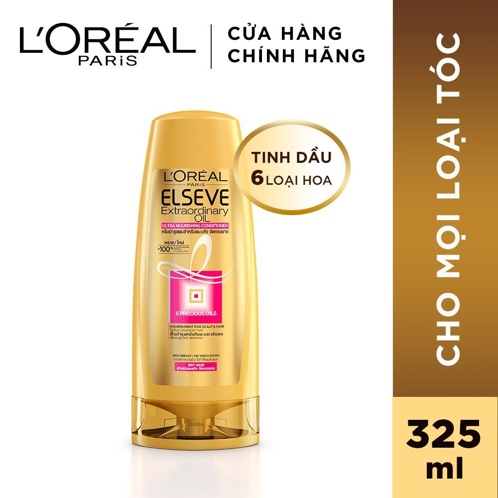 Dầu xả chiết xuất tinh dầu hoa tự nhiên LOreal Paris Elseve Extraordinary Oil Ultra Nourishing 325ml