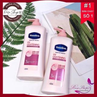 Sữa dưỡng thể trắng hồng Vaseline Uv Lightening 3X 400ml, shop cam kết 100% sản phẩm chính hãng nội ngoại nhập, bảo hành 1 đổi 1 nếu sản phẩm lỗi thumbnail