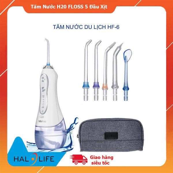 Máy tăm nước H20FLOSS HF-6, tăm nước cầm tay H2ofloss HF6 có 5 đầu tăm và túi du lịch bảo hành chính hãng giá rẻ