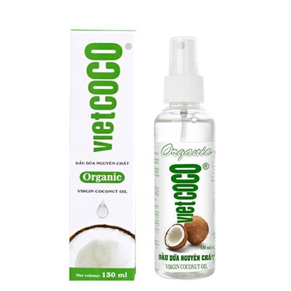 Dầu Dừa Nguyên Chất Organic Vietcoco 130ml - Vòi Xịt giá rẻ