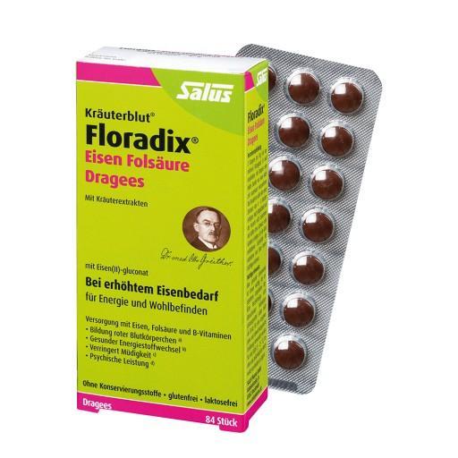 Viên nén điều trị thiếu sắt và thiếu máu Floradix, hộp 84 viên nhập khẩu
