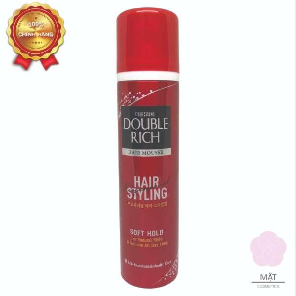 Muosse tạo kiểu và giữ nếp tóc tự nhiên Double Rich 150ml