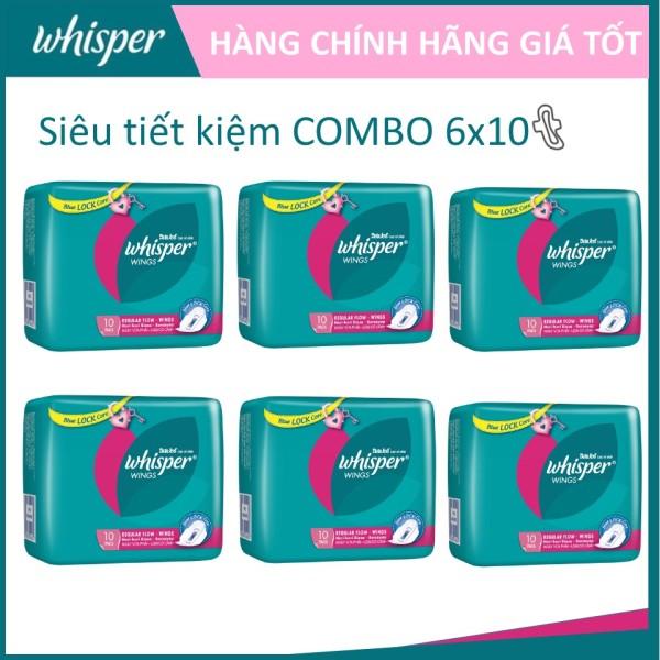 COMBO 6 gói Whisper Cánh dày ngày 10 miếng