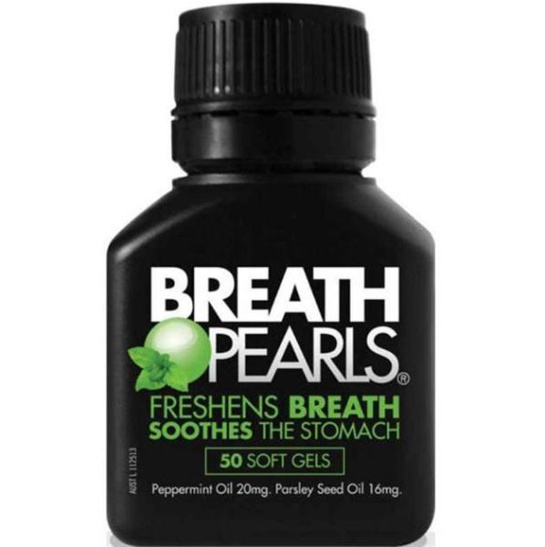 Viên uống thơm miệng, trị hôi miệng Breath Pearls, 50 viên