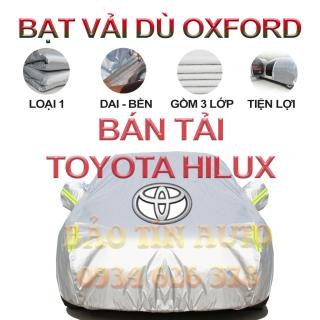 [LOẠI 1] Bạt che kín bảo vệ xe bán tải Toyota Hilux 4,5 chỗ tráng bạc cao cấp, vải bông chống xước 3 lớp vải dù Oxford , bạt phủ trùm che nắng, mưa, bụi bẩn, áo chùm bạc trùm phủ xe oto ban tai Bảo Tín Auto thumbnail