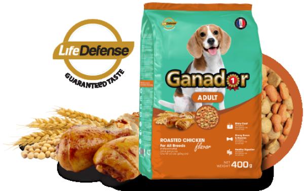 HN-( Gói 3kg) thức ăn dạng hạt cao cấp GANADOR dành cho mọi loại chó cám chó / thức ăn chó / thức ăn khô cho chó