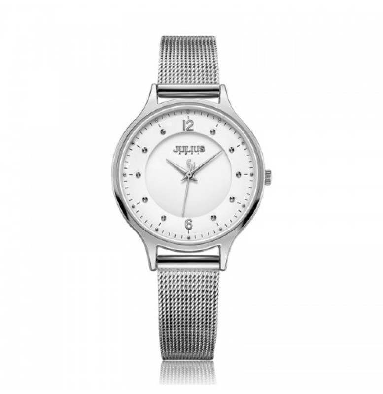 Đồng hồ nữ Julius JA-1060A màu trắng