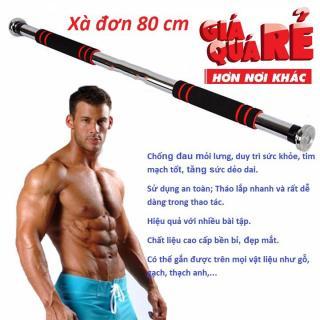 Xà đơn 80 cm-Có thể kéo dài 130cm -Tập xà đơn thường xuyên giúp bạn giảm béo bụng vô cùng hiệu quả, duy trì sức khỏe,kích thích tăng trưởng chiều cao-Sale sốc 50% bởi May Store. thumbnail