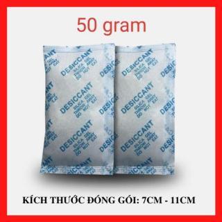 [Silicagel 50g] Gói hút ẩm LOẠI 50gr gói (nhỏ) Silica Gel - Hạt chống ẩm mốc, khử mùi, bảo quản thực phẩm, chống hôi giày và ghỉ set , ... thumbnail