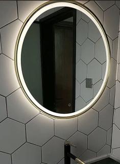 Gương Treo Tường Phun Cát Đèn Led Cảm Ứng Cao Cấp D50-D60, Gương Trang Điểm, Phòng Tắm Đèn Led Decor thumbnail