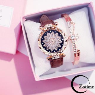 Đồng hồ nữ đeo tay thời trang mặt hoa dây da nhung ZO26 thumbnail
