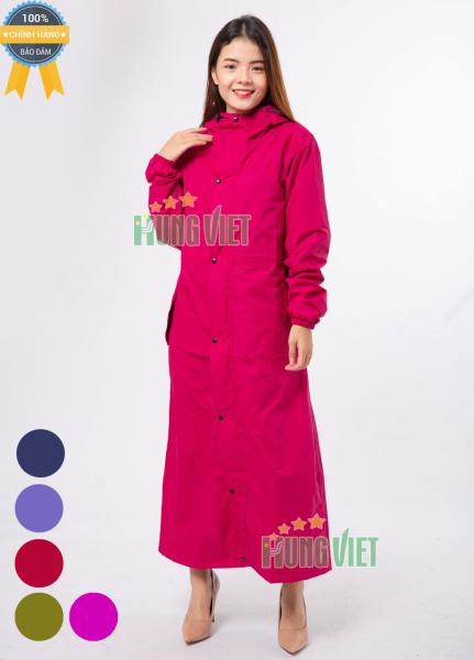 Áo mưa măng tô nữ PU 2 lớp cao cấp vải Hàn Quốc - Giữ ấm chống thấm tuyệt đối